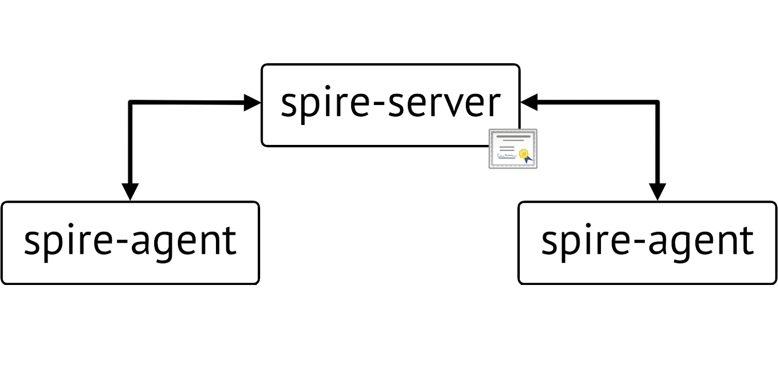 Diagram of Single Trust Domain